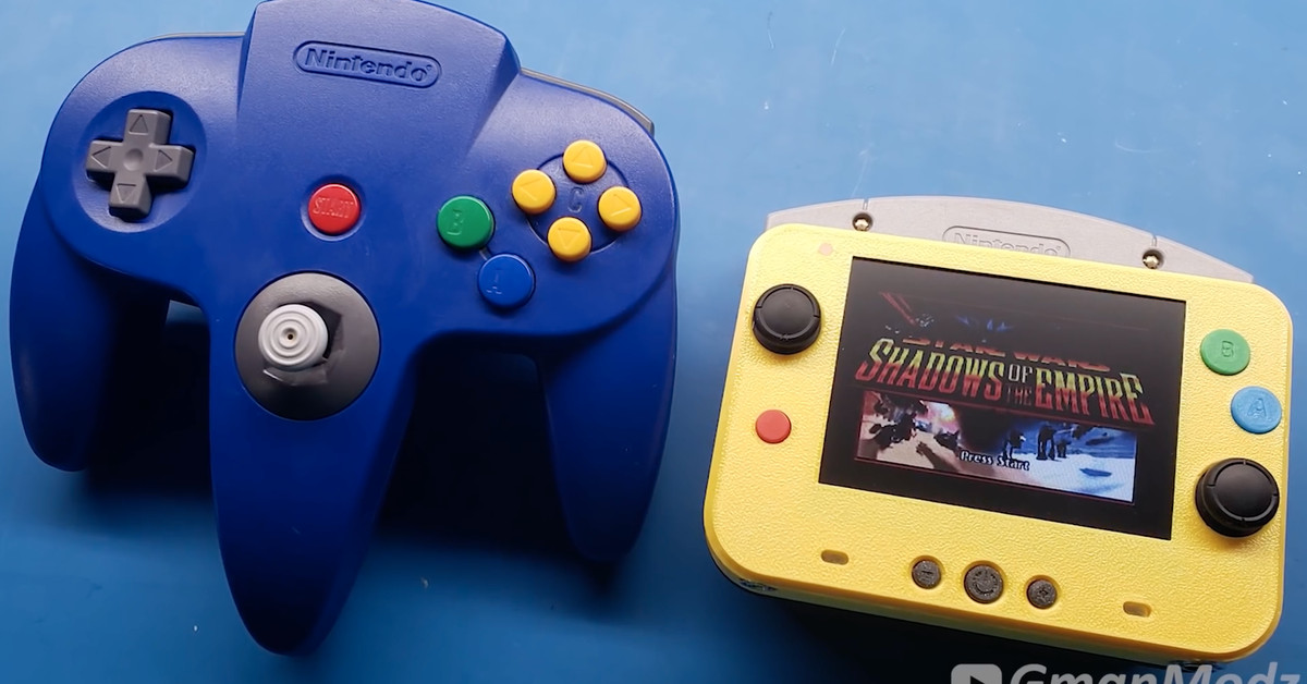 One of the mods made the Nintendo 64 smaller than the original controller