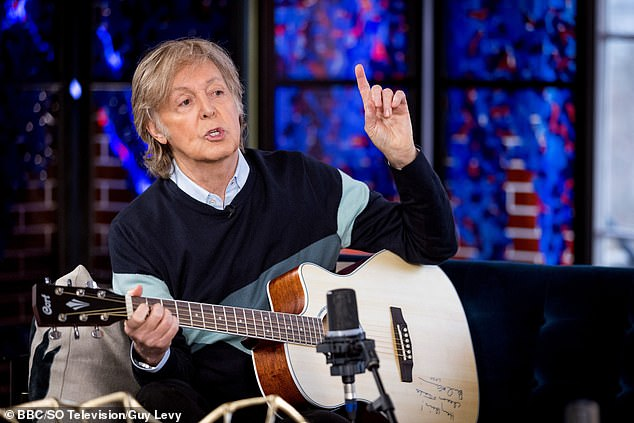 Oops: Sir Paul released his new album McCartney III earlier this month, after having written and recorded it during shutdown earlier this year as a happy accident.