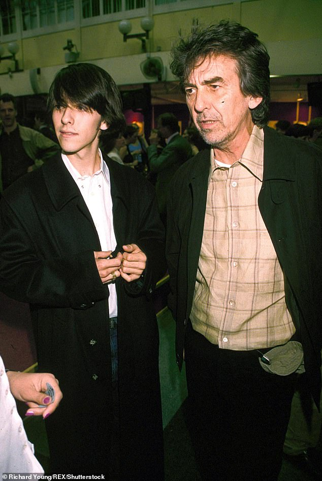 Late Star: George (pictured with his son Dahani in 1999) died in 2001 at the age of 58 after a battle with lung cancer.