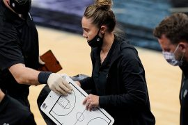 Becky Hammon becomes the first NBA coach after Tottenham's Greg Popovich was expelled from the match
