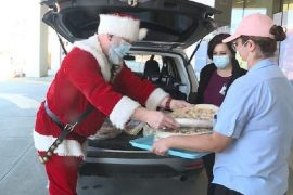 Santa Claus begins delivery of Christmas Eve to SLC Hospitals