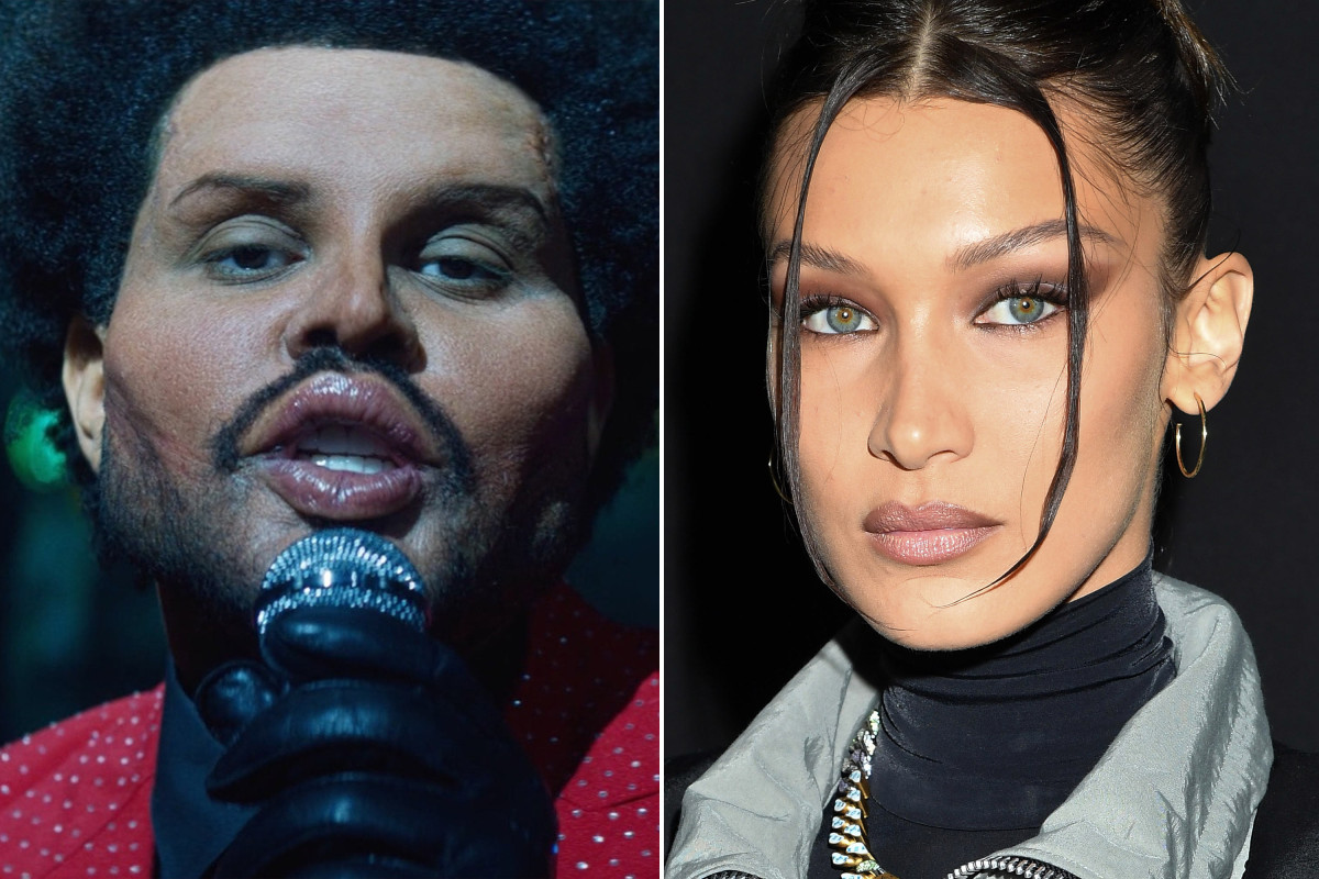 Is The Weeknd's fake plastic surgery a dig at ex Bella Hadid?
