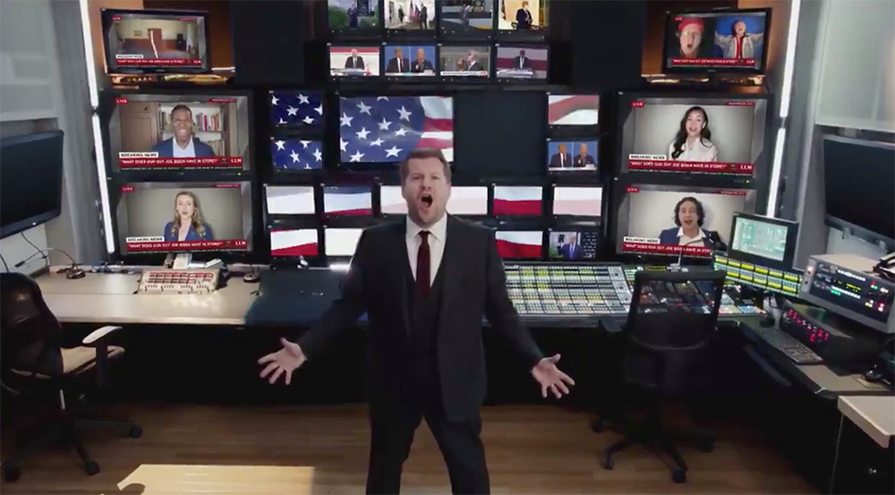 "James Corden mockingly celebrates Trump's ""One More Day"" for Les Miserables"
