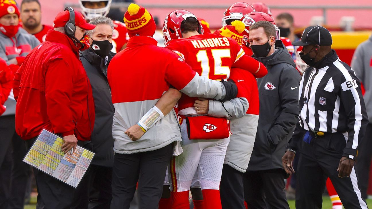Kansas City Chiefs coach Andy Reed says that before the concussion protocol, Patrick Mahomes may have returned