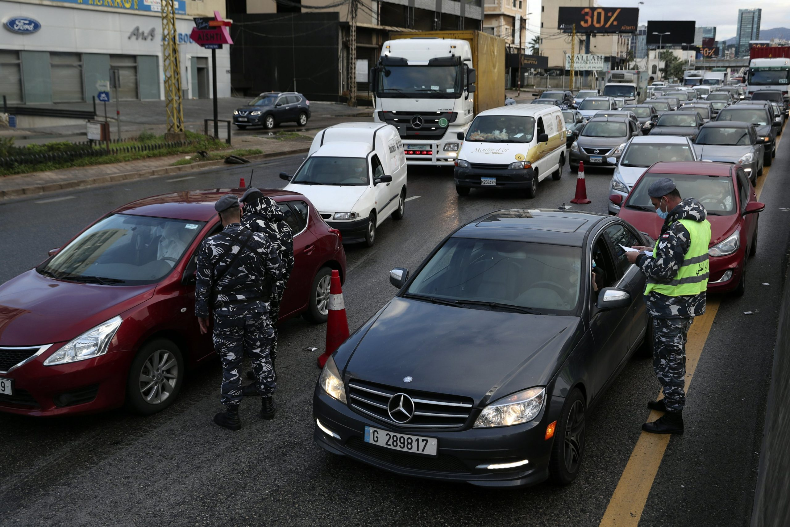 Lebanon begins an all-day curfew as the virus spreads out of control