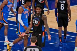 The terrible shooting ends the Knicks' winning streak in Loss to Thunder